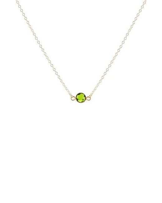 Kris Nations - Metallic Birthstone Necklace - Lyst