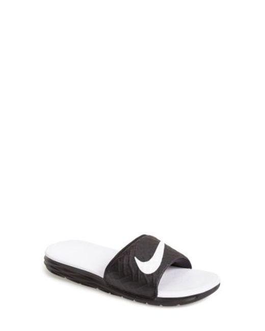 Nike | Black 'benassi Solarsoft 2' Slide Sandal | Lyst