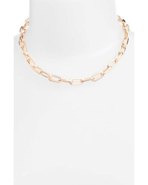 Rebecca Minkoff | Metallic Signature Link Necklace | Lyst
