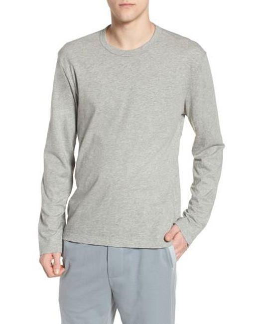 James Perse - Gray Crewneck Cotton Sweatshirt for Men - Lyst