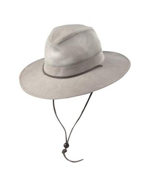 Dorfman Pacific - Natural Brushed Twill Safari Hat for Men - Lyst