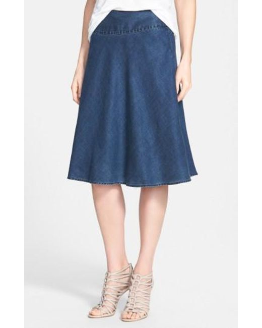 NIC+ZOE | Blue 'summer Fling' Flirt Skirt | Lyst