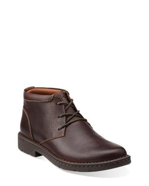 Clarks | Brown Clarks 'stratton - Limit' Plain Toe Boot for Men | Lyst