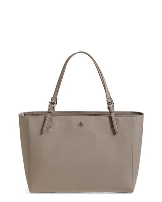 Tory Burch | Gray 'york' Buckle Tote | Lyst