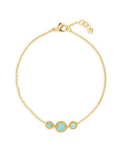 Nadri - Metallic Cleo Semiprecious Doublet Bracelet - Lyst