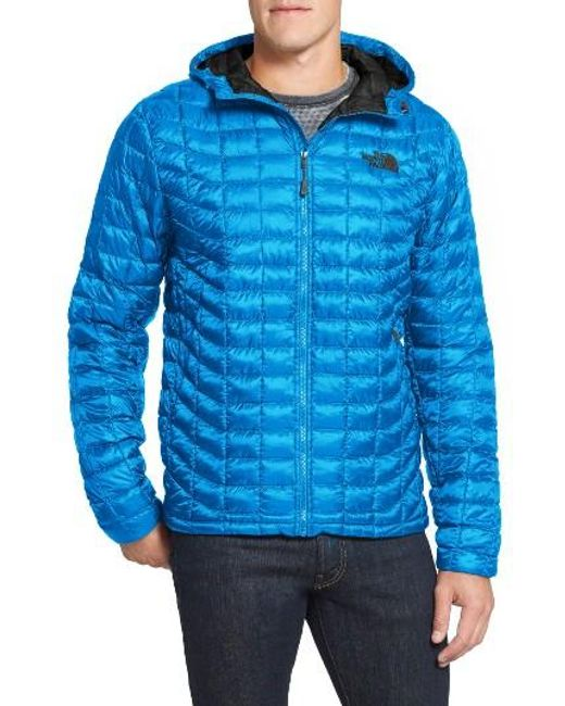 The North Face   Blue 'thermoball(tm)' Primaloft Hoodie Jacket for Men   Lyst