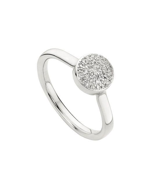 Monica Vinader - Metallic Ava Diamond Button Ring - Lyst