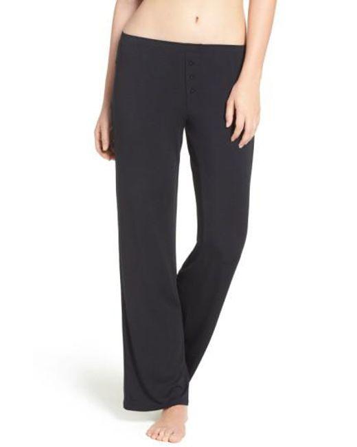 Pj Salvage | Black Jersey Pajama Pants | Lyst