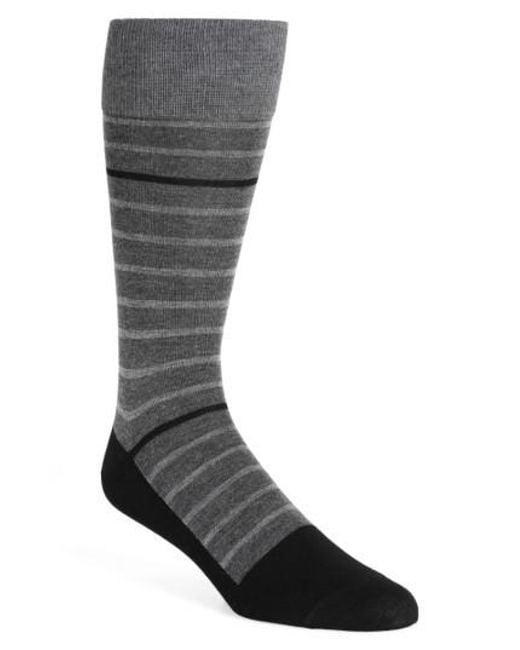 Calibrate | Black Stripe Socks for Men | Lyst