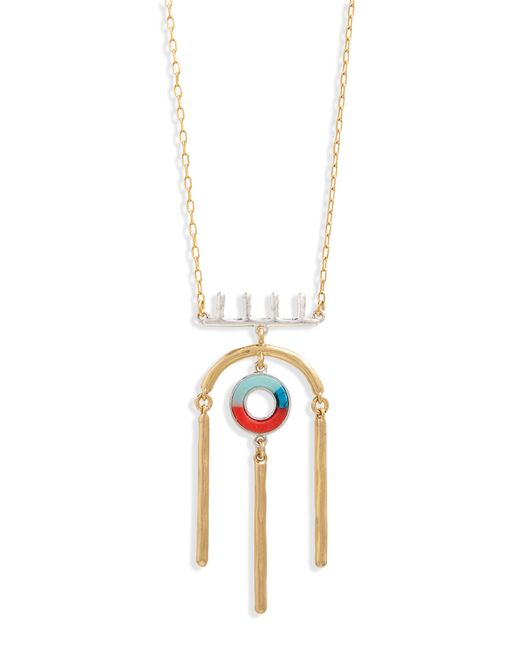 Madewell - Metallic Desert Sunset Statement Necklace - Lyst