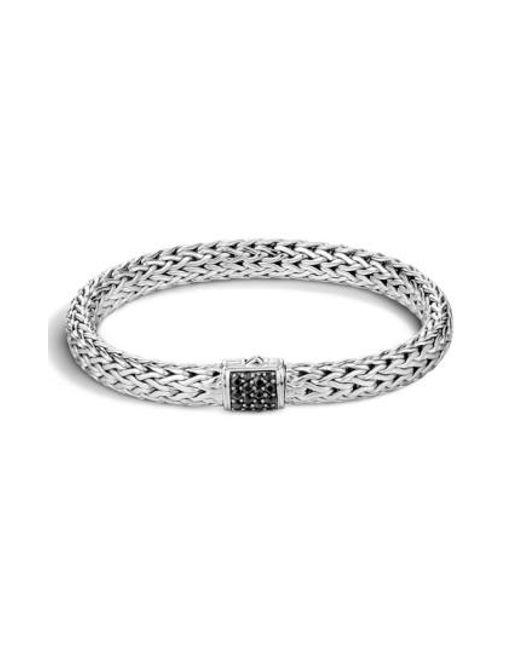 John Hardy - Black 'classic Chain' Sapphire Medium Bracelet - Lyst