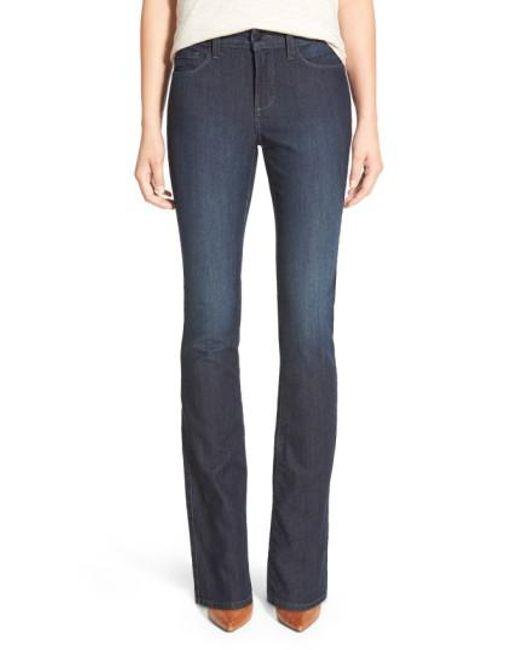 NYDJ | Blue 'billie' Stretch Mini Bootcut Jeans | Lyst