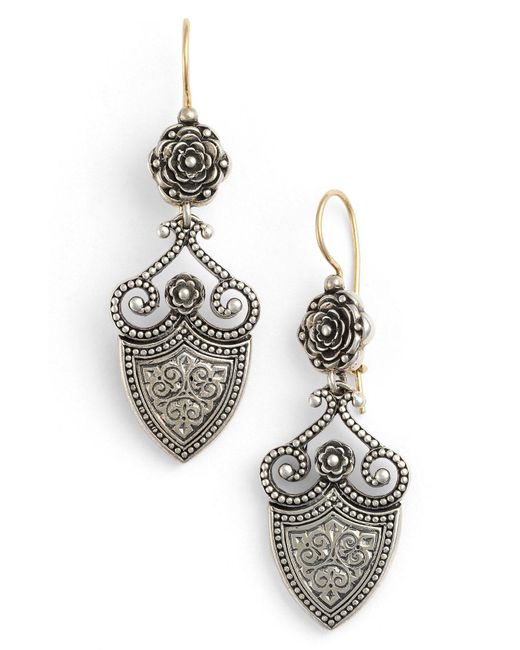 Konstantino - Metallic 'silver Classics' Shield Drop Earrings - Lyst
