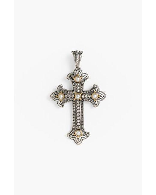 Konstantino | Metallic 'classics' Pearl Cross Pendant | Lyst