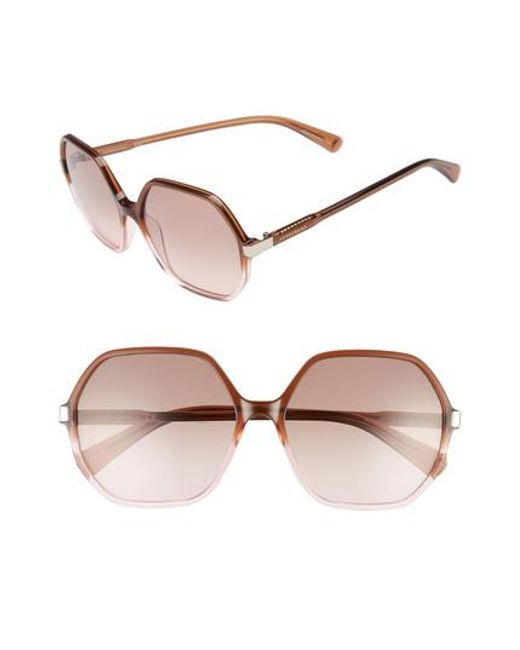 16bfc5a9b1 Longchamp - Multicolor 59mm Gradient Lens Hexagonal Sunglasses - Lyst