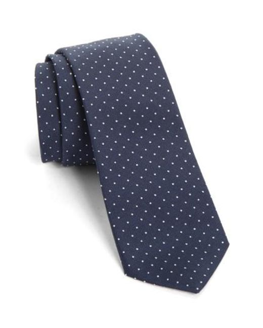 Paul Smith | Blue Dot Silk Skinny Tie for Men | Lyst