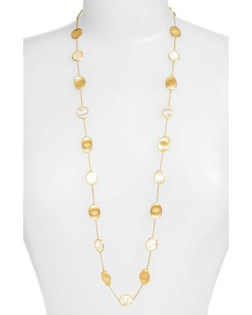 Marco Bicego - White Lunaria Mother Of Pearl Long Strand Necklace - Lyst