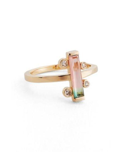Mociun | Metallic Watermelon Tourmaline & Diamond Ring (nordstrom Exclusive) | Lyst