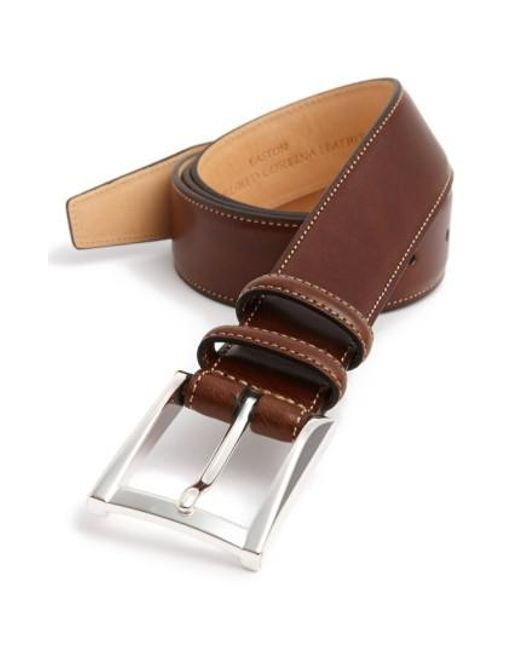 Trafalgar - Brown 'easton' Calfskin Belt for Men - Lyst