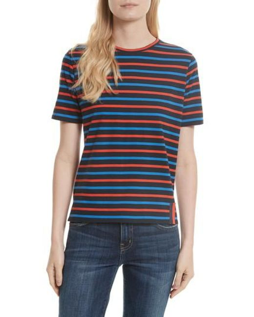 Kule - Multicolor The Modern Stripe Cotton Tee - Lyst