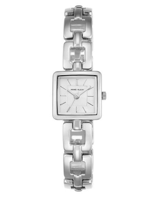 Anne Klein | Metallic Square Bracelet Watch | Lyst