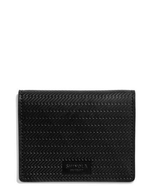 Shinola | Black Id Card Wallet for Men | Lyst