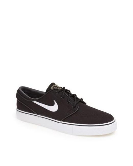 Nike | Black 'zoom - Stefan Janoski Sb' Canvas Skate Shoe for Men | Lyst