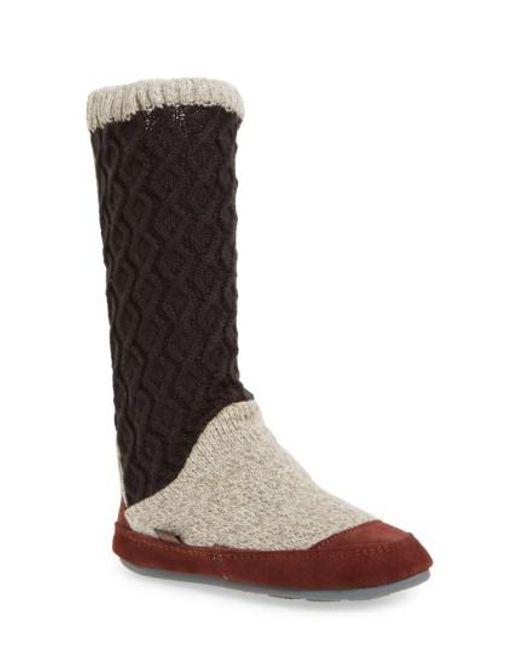 Acorn | Multicolor Slouch Slipper Boot | Lyst