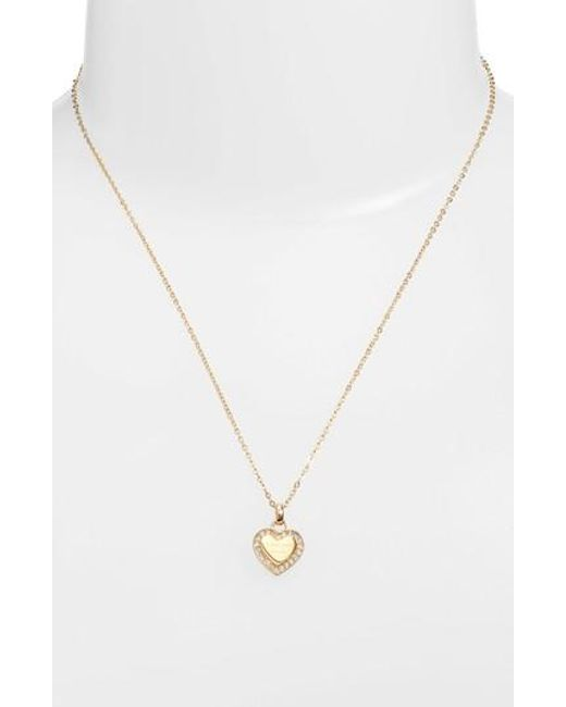 Michael Kors | Metallic Heart Pendant Necklace | Lyst