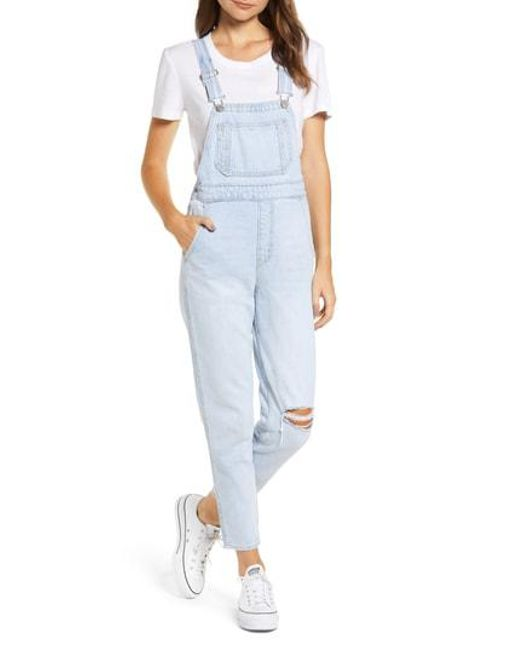 b20bca9e7471 Lyst - Levi S Levi s Mom Ankle Denim Overalls in Blue