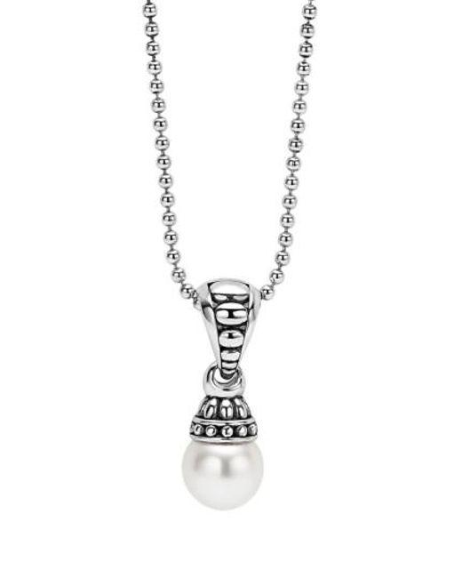 Lagos - Metallic 'luna' Pearl Pendant Necklace - Lyst