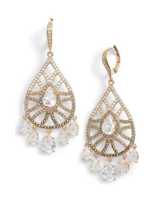 Judith Jack | Metallic Cubic Zirconia Drop Earrings | Lyst