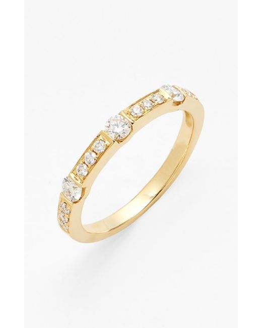 Bony Levy | Yellow 'linea' Diamond Band Ring (nordstrom Exclusive) | Lyst