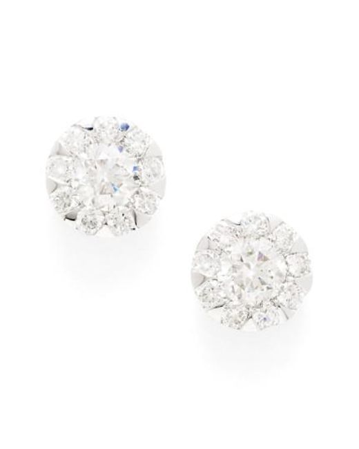 Kwiat | Multicolor 'sunburst' Diamond Stud Earrings | Lyst