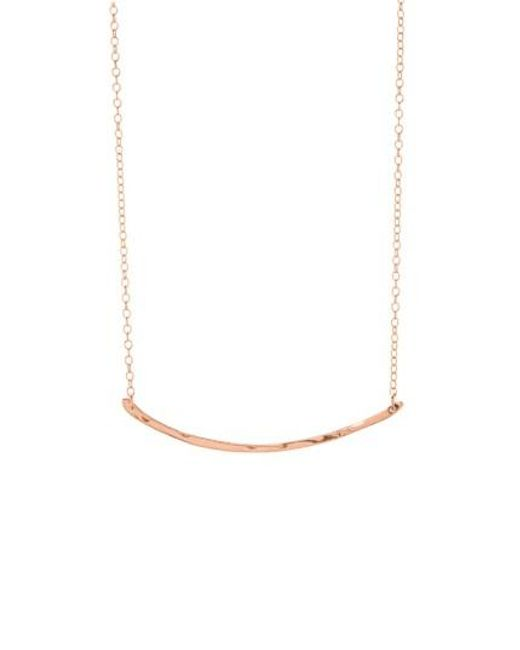 Gorjana | Pink 'taner' Small Bar Pendant Necklace | Lyst