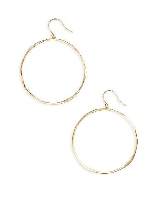 Gorjana | Metallic 'g Ring' Hoop Earrings | Lyst