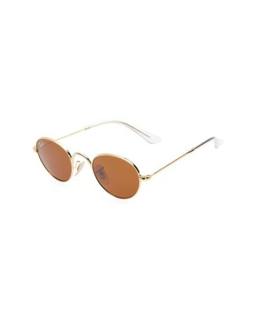 053fd5f786f Lyst - Ray-Ban Lennon Junior 40mm Round Sunglasses in Brown