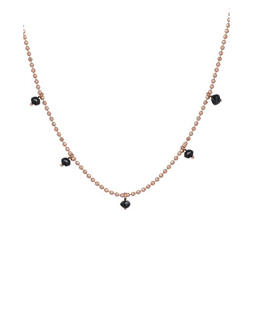 Kismet by Milka - Metallic Black Diamond Pendant Necklace - Lyst