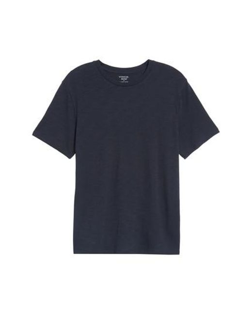 Vince - Blue Slub Crewneck T-shirt for Men - Lyst