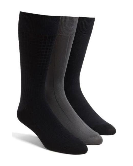 Calvin Klein - Gray 3-pack Microfiber Socks, Grey for Men - Lyst