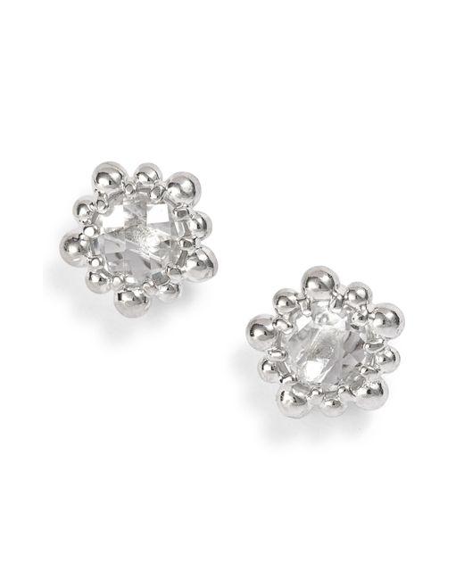Anzie - Metallic Micro Dew Drop Topaz Earrings - Lyst