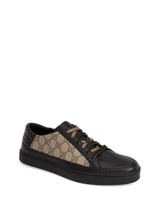 Gucci - Black 'Common' Low-Top Sneaker for Men - Lyst