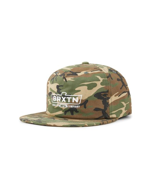 Brixton - Green Cruss Mp Snapback Baseball Cap - for Men - Lyst