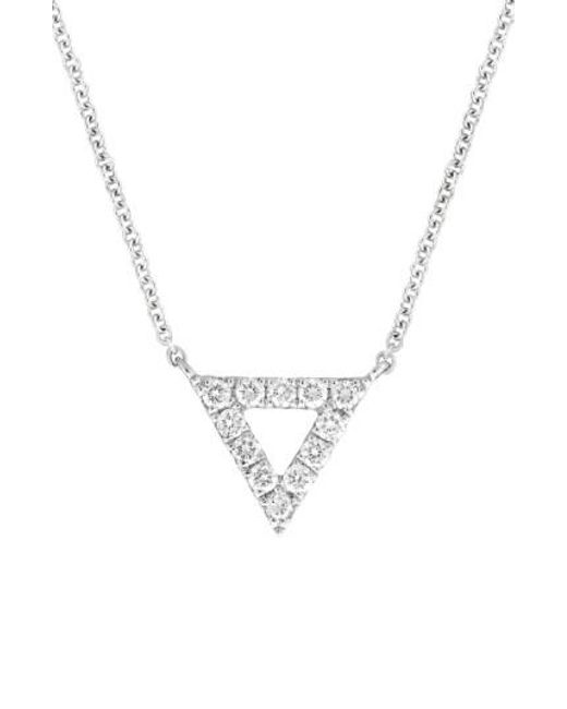 Bony Levy | White Diamond Pave Triangle Pendant Necklace (nordstrom Exclusive) | Lyst