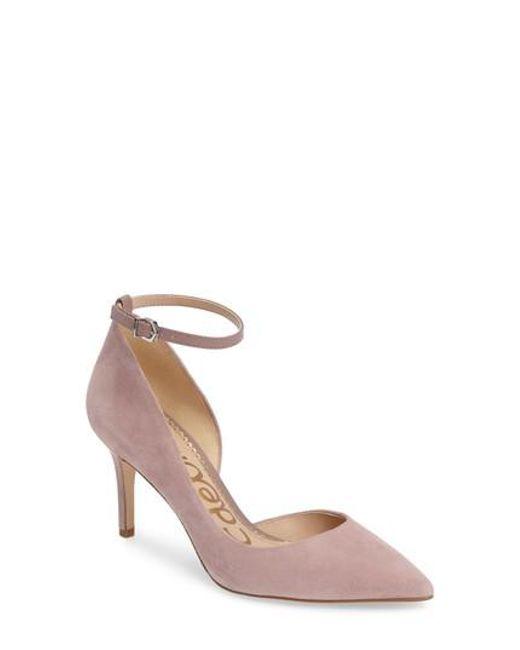 Sam Edelman | Pink Tia Ankle Strap Pump | Lyst