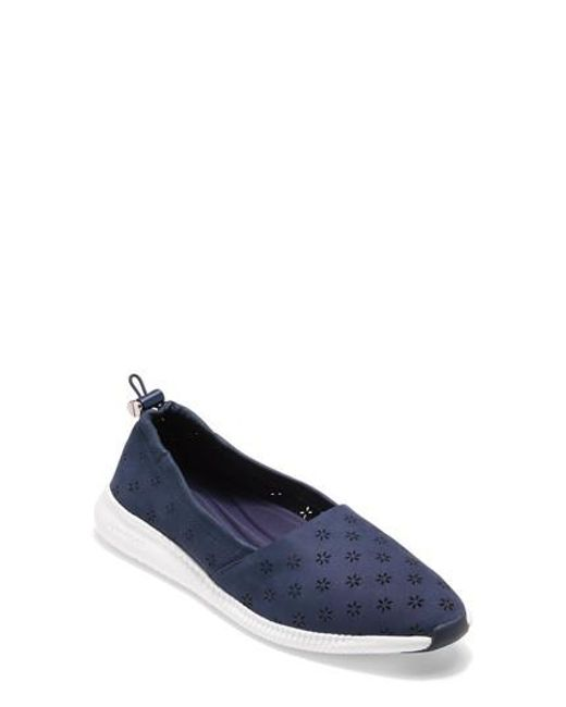 Cole Haan - Blue Studiogrand Perforated Slip-on - Lyst