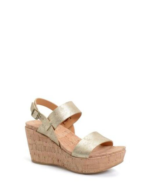 Kork-Ease - Brown Kork-ease 'austin' Slingback Wedge Sandal - Lyst