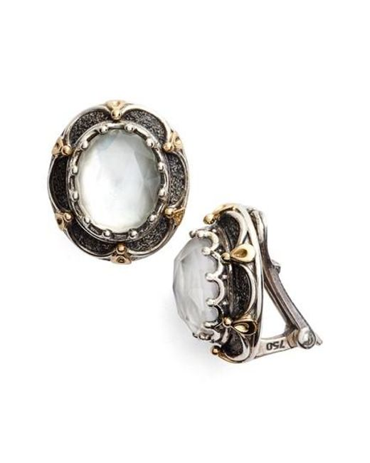 Konstantino | Metallic Semiprecious Stone Clip Earrings | Lyst