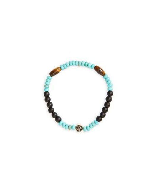 Luis Morais - Blue All Seeing Eye Beaded Stretch Bracelet - Lyst
