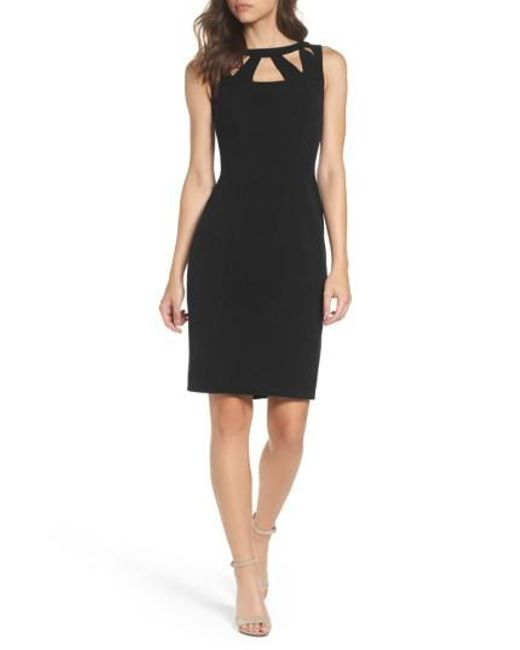 Eliza J | Black Cutout Detail Sheath Dress | Lyst
